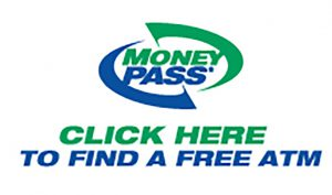 Image: MoneyPass logo. Click to launch MoneyPass ATM Locator.