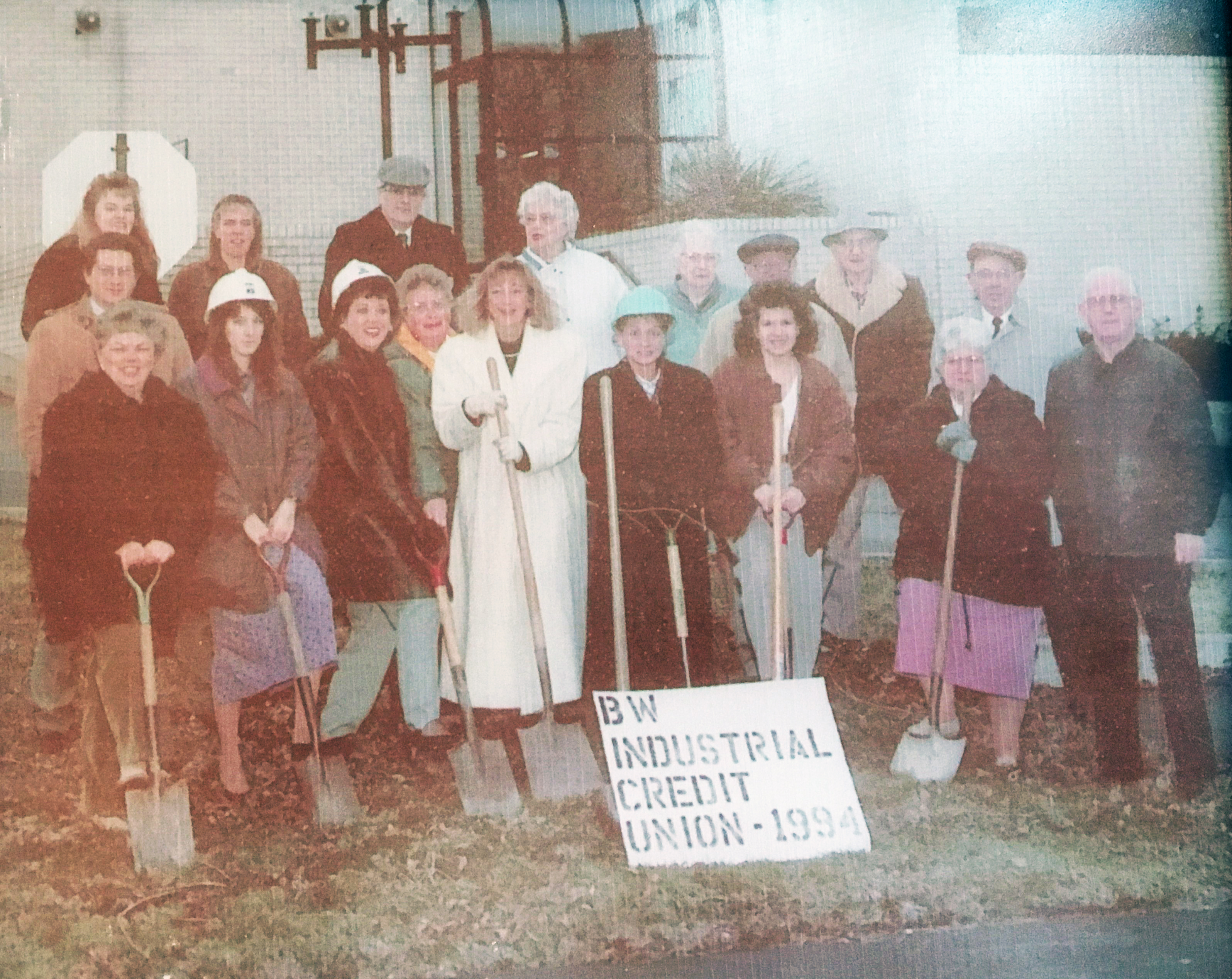 Image: Old photo of branch expansion groundbreaking at BW Credit Union in 1994