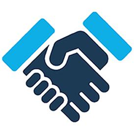 Image: handshake icon