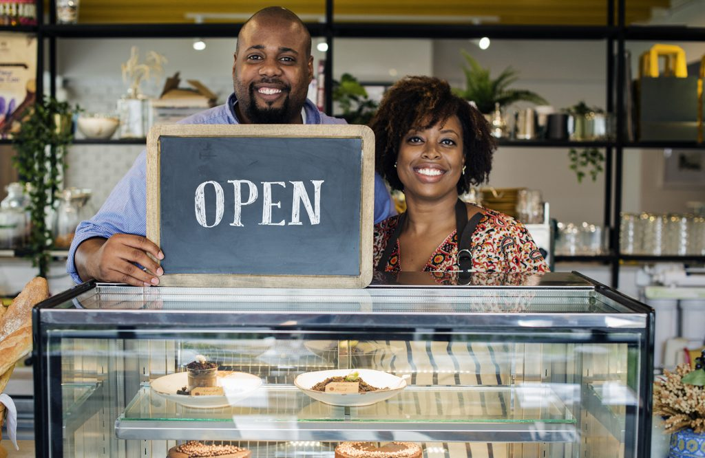 Image: happy business owners